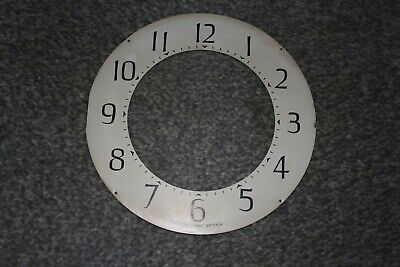 "Vintage Smiths 6"" mantel clock dial/face/chapter ring for spares/repairs/parts"