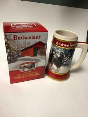 Budweiser Holiday Stein  2019 40th Anniversary ( Winter Passage ) COA
