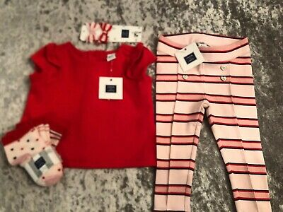 NWT Janie And Jack Baby Girl 6-piece SPRING red heart Valentine Bow SET 6 9 12