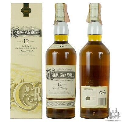Cragganmore Single Highland Malt Scotch Whisky 12 Years Old Anni '90 1 L 40°