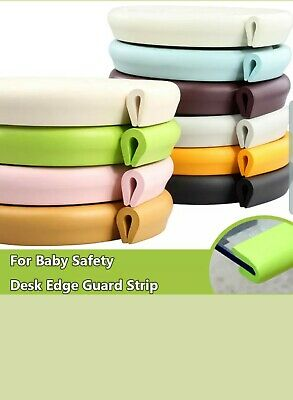 Baby Safe Desk/Table Edge Protector - Cushion Guard Foam Bumper - Coffee