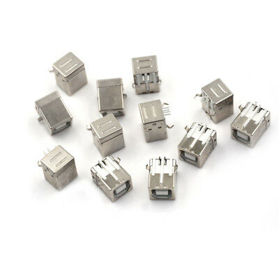 10Plug Port Connector Socket PCB Replacement For USB Type B Female Right AngN~JP