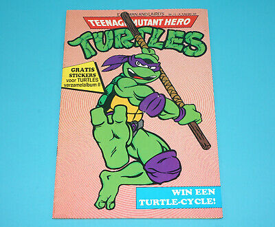 Tmnt Teenage Mutant Ninja Turtles Hero Comic #11 Dutch 1991 Junior Press Holland