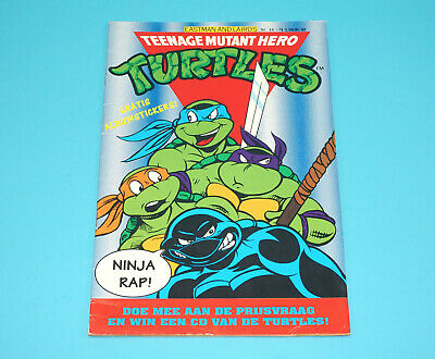 Tmnt Teenage Mutant Ninja Turtles Hero Comic #14 Dutch 1991 Junior Press Holland
