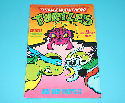 Tmnt Teenage Mutant Ninja Turtles Hero Comic #15 Dutch 1991 Junior Press Holland