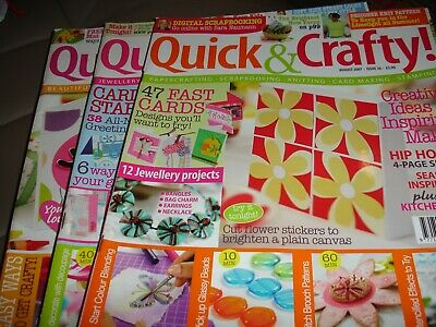 Quick & Crafty Magazines.  Issues 36, 37 & 45