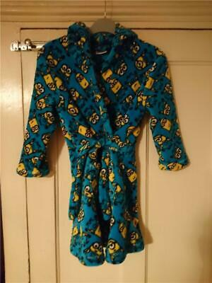 Minions Unisex Dressing Gown/bath Robe - 5~6 YRS - George - Official Product