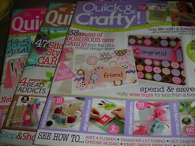 Quick & Crafty Magazines.  Issues 21, 22 & 24