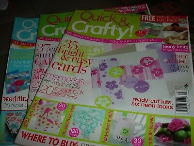 Quick & Crafty Magazines.  Issues 07, 09 & 20