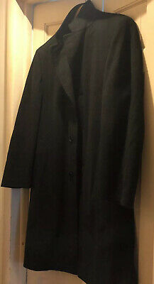 CANALI Italy charcoal gray WOOL CASHMERE Mens Jacket Coat OVERCOAT guc