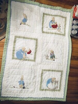 Pottery Barn Peter Rabbit Crib Bedding Set With Quilt
