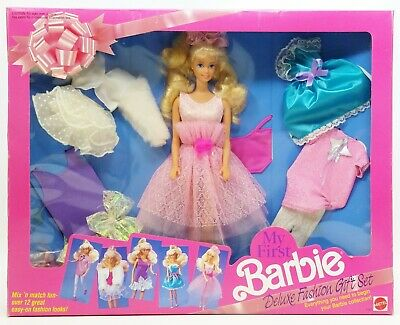 1991 Mattel My First Barbie Deluxe Fashion & Doll Gift Set No. 2483 NRFB