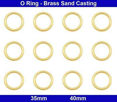 O Rings - 35mm, 40mm - Solid Brass Sand Casting - Polished