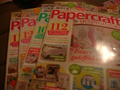 Papercraft Inspirations Magazines.  Issues 166, 167, 168 & 169