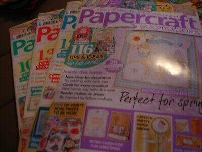 Papercraft Inspirations Magazines.  Issues 151, 163, 164 & 165