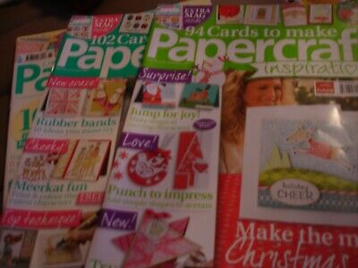 Papercraft Inspirations Magazines.  Issues 93, 98 & 165