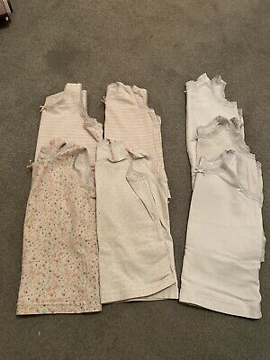 Girls Next Vests X 7 - 1.5-2 Years - 18-24 Months - Floral White Pink