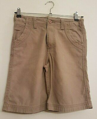 Ref 262 - FAT FACE - Boys Childrens Brown Cotton Summer Shorts Age 10-11 Years