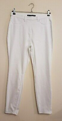Ref 480- NEXT - Ladies Womens Girls White Crop Denim Leggings / Trousers Size 12