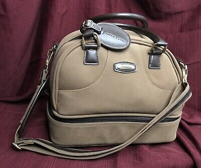 Pierre Cardin Carry On Bag Duffle Brown Tan Luggage CLEAN Weekend Overnight VTG