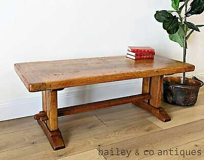 French Vintage Oak Monastere Refectory Coffee Table Rare - TA041