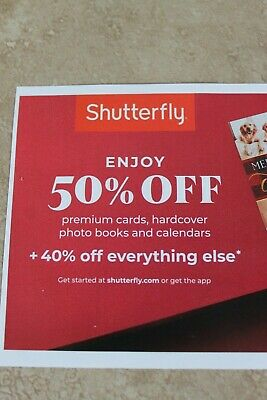 Shutterfly Coupon Code 50% off Cards Photo Book Calendar 40% other Exp. 12/16/19