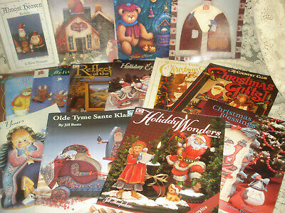 Lot 13 Tole Painting Books CHRISTMAS Assorted Artists & Elaine Thompson Santa Pk