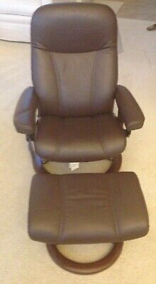 Enjoyable Scandinavian Elkornes Stressless Recliner With Ottoman Brown Caraccident5 Cool Chair Designs And Ideas Caraccident5Info