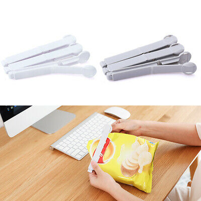 5Pcs Reusable Food Bags Sealing Clip Grains Snacks Storage Home Clamp Mini Size
