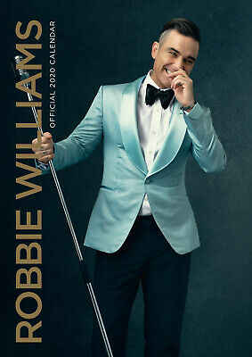 Robbie Williams Official 2020 (New Sealed A3 Wall Calendar)