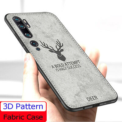 For Xiaomi Mi Note 10 Pro Hybrid Fabric Soft TPU Leather Matte Back Case Cover