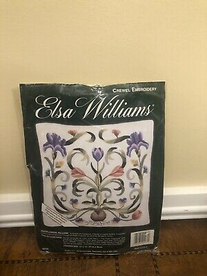 "Elsa Williams ""Mayflower Pillow"" Crewel Embroidery Kit 00438"