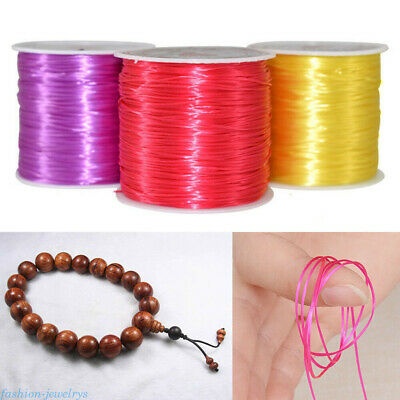 1Roll 0.5mm Elastic String Cord Rope Wire DIY Bracelet Jewelry Making Craft Gift
