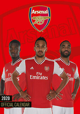 Arsenal FC Official 2020 (New Sealed A3 Wall Calendar)