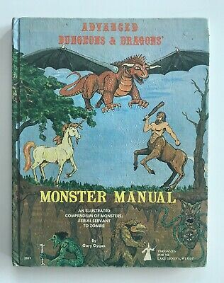 #2009 ADVANCED DUNGEONS & DRAGONS MONSTER MANUAL 1977 1978 TSR 3rd Edition Dec78