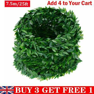 25ft DIY Christmas Garland Decoration Artificial Foliage Vine Wedding Xmas Decor
