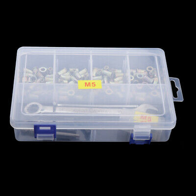 Hand Riveter Gun Nutsert Tool Kit - 100pcs M5 Nuts Rivnut, Hex Wrench