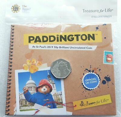 2019 Royal Mint Paddington Bear at St Pauls Cathedral 50p Fifty Pence Coin Pack