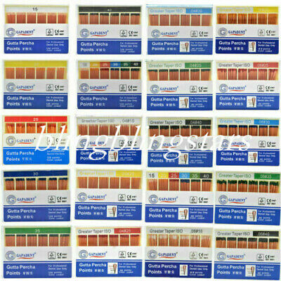 1 Box Dental Gutta Percha Points 0.02 /0.04/ 0.06 GAPADENT 15 Size For Choose