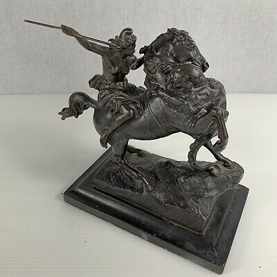 Antique C1890 Verlag Bei Zimmermann Hanau Cast Metal Amazonian Fighting Panther