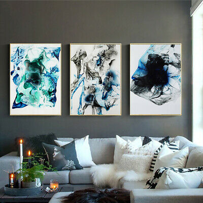Smoke Fog Canvas Poster Living Room Unframed Abstract Picture Wall Hanging Decor