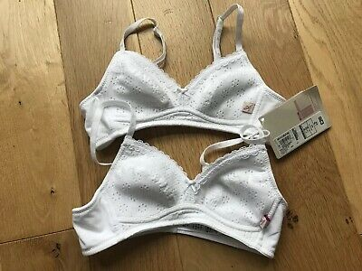 Pack Of 2 First Bras From M&S Brand New With Label , 32AA