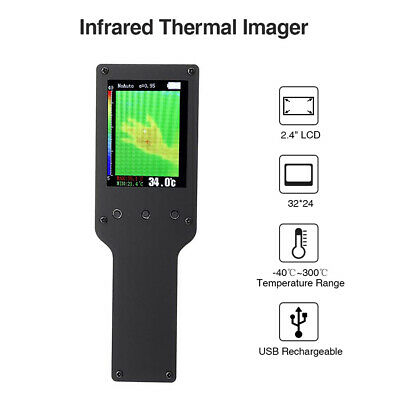 Thermal Camera Infrared Temperature Thermometer LCD Built-in Battery Lightweight