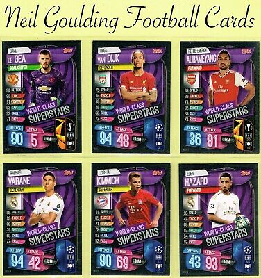 Champions League MATCH ATTAX 2019/2020 ☆ WORLD CLASS SUPERSTARS ☆ #WCU1-15 [UK]