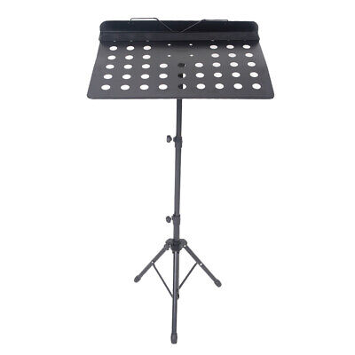 Height Adjustable Music Stand Orchestra Choir Book Holder Tripod Mic Stand UK