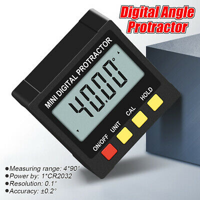 △ Mini Digital Inclinometer Level Box Protractor Angle Finder Bevel Gauge Magnet