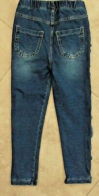 Next Younger Girls Soft Blue Jeggings/Jeans/Trousers Size 4-5 Years