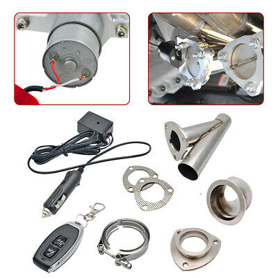 "2"" 51mm Remote Electric Exhaust Catback Downpipe Cutout E-Cut Out Valve System"