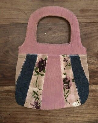 Handbag,Kids Bag,Corduroy,Girls Floral Shoulderbag,Child's Tote,Pink & Blue,NEXT