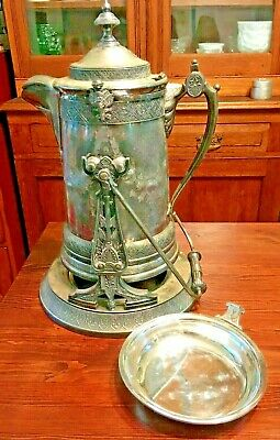 Rare REED & BARTON Silver Tilting ICE Water Pitcher ESTATE PRESENTATION SET 1878
